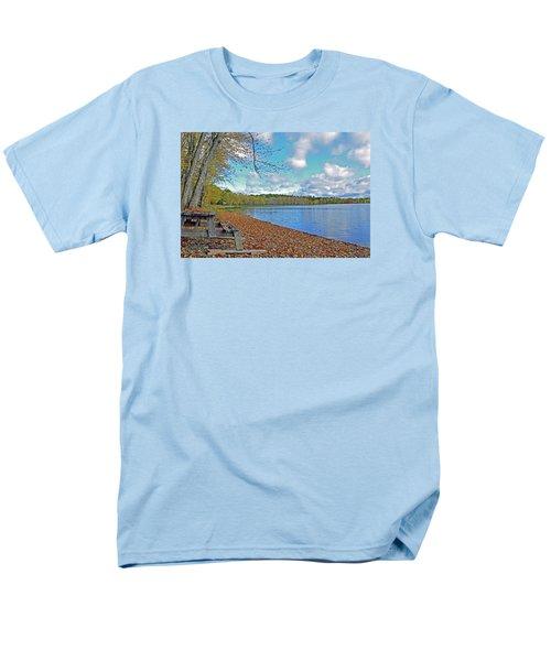 Fall Picnic In Maine Men's T-Shirt  (Regular Fit) by Glenn Gordon