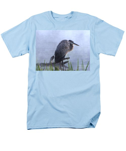 Men's T-Shirt  (Regular Fit) featuring the photograph Heron 5 by Melissa Stoudt