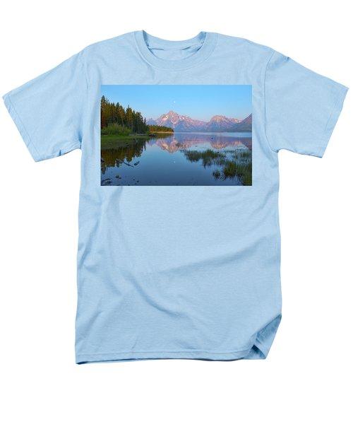 Heron On Jackson Lake Men's T-Shirt  (Regular Fit) by Hugh Smith