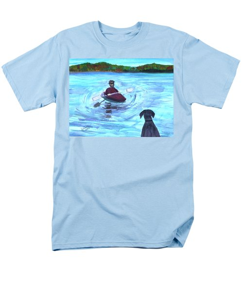 Men's T-Shirt  (Regular Fit) featuring the painting Hey Where You Going  by Donna Walsh