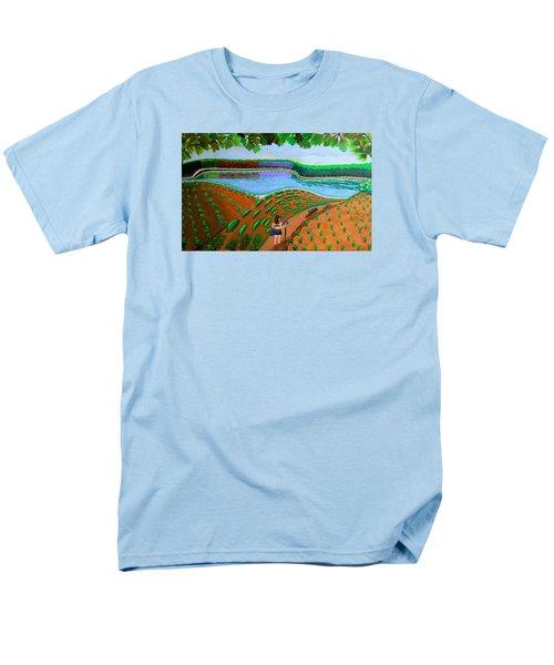 Hidden Water From Above Men's T-Shirt  (Regular Fit) by Lorna Maza