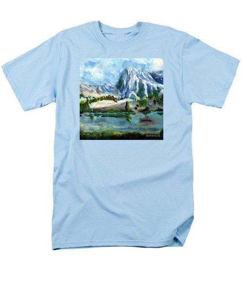High Lake First Snow Men's T-Shirt  (Regular Fit) by Randy Sprout