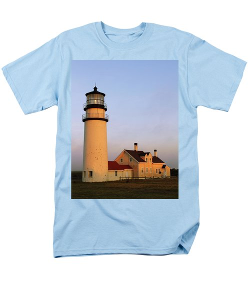 Men's T-Shirt  (Regular Fit) featuring the photograph Higland Lighthouse Cape Cod by Roupen  Baker