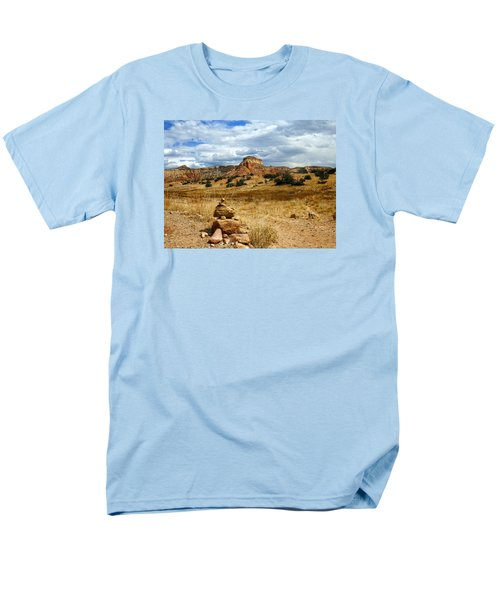 Men's T-Shirt  (Regular Fit) featuring the photograph Hiking Ghost Ranch New Mexico by Kurt Van Wagner