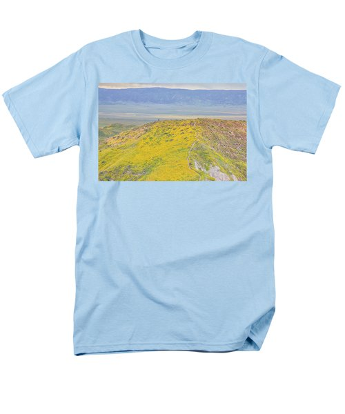 Hiking The Temblor Men's T-Shirt  (Regular Fit) by Marc Crumpler
