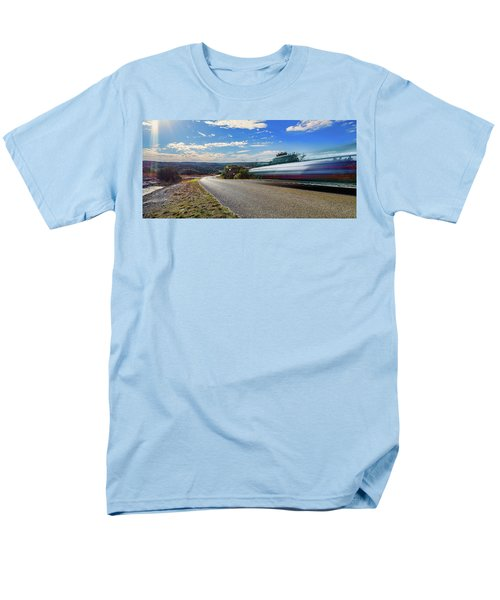 Hill Country Back Road Long Exposure Men's T-Shirt  (Regular Fit) by Micah Goff