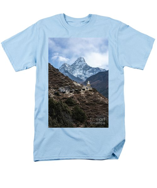 Men's T-Shirt  (Regular Fit) featuring the photograph Himalayan Yak Train by Mike Reid