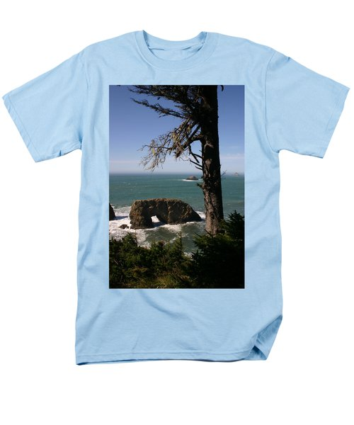 Men's T-Shirt  (Regular Fit) featuring the photograph Hole In One At Arch Rock by Marie Neder