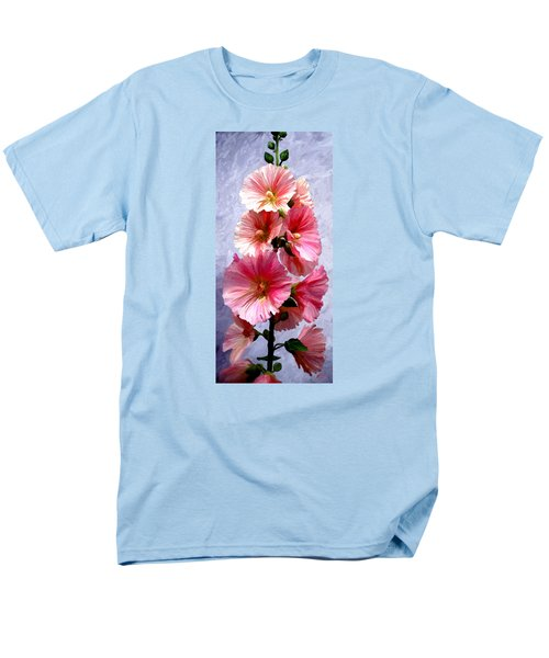 Men's T-Shirt  (Regular Fit) featuring the painting Hollyhocks by James Shepherd