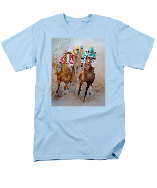 Men's T-Shirt  (Regular Fit) featuring the painting Home Stretch by Marilyn Zalatan