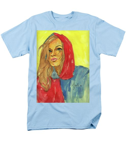 Men's T-Shirt  (Regular Fit) featuring the painting Hoody by P J Lewis