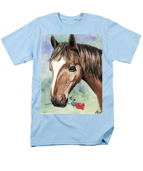 Horse In Love Men's T-Shirt  (Regular Fit) by Alban Dizdari