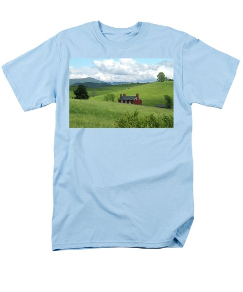 Men's T-Shirt  (Regular Fit) featuring the photograph House In The Hills by Emanuel Tanjala