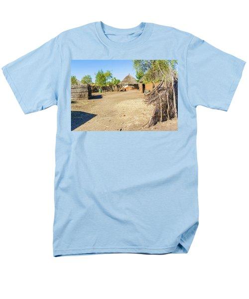 Houses In Rashid,  Sudan Men's T-Shirt  (Regular Fit) by Marek Poplawski