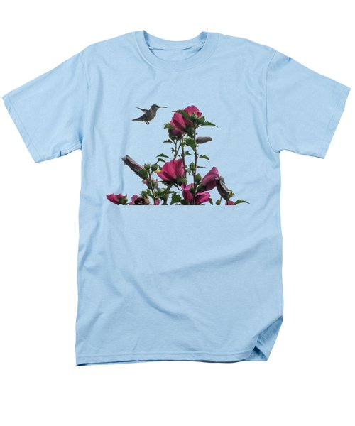 Hummingbird With Rose Of Sharon Men's T-Shirt  (Regular Fit) by Photographic Arts And Design Studio