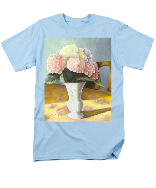 Men's T-Shirt  (Regular Fit) featuring the painting Hydrangeas by Marlene Book