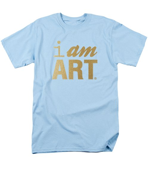 Men's T-Shirt  (Regular Fit) featuring the mixed media I Am Art- Gold by Linda Woods
