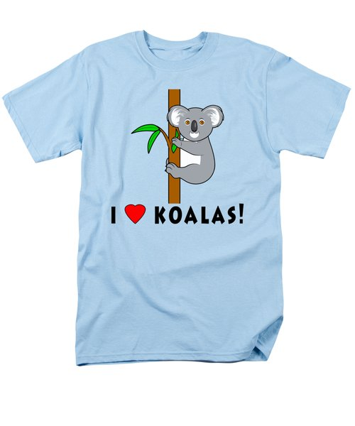 I Love Koalas Men's T-Shirt  (Regular Fit) by A