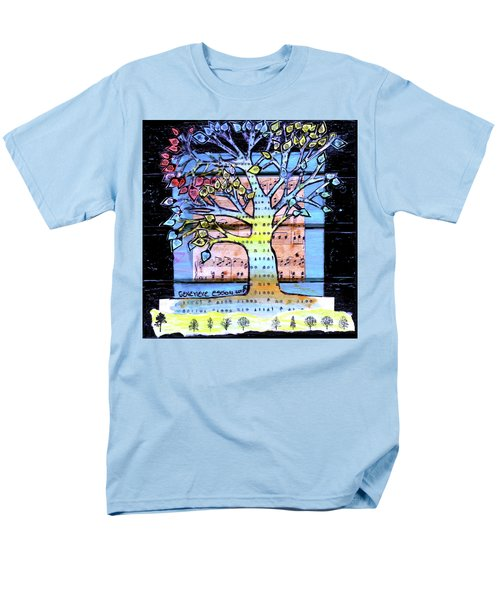 Men's T-Shirt  (Regular Fit) featuring the painting I Love Trees by Genevieve Esson