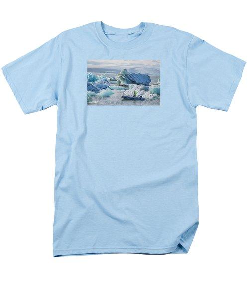 Icebergs On Jokulsarlon Lagoon In Iceland Men's T-Shirt  (Regular Fit) by Venetia Featherstone-Witty