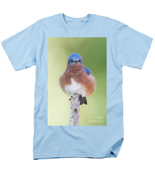 Men's T-Shirt  (Regular Fit) featuring the photograph I May Be Fluffy But I'm No Powder Puff by Bonnie Barry