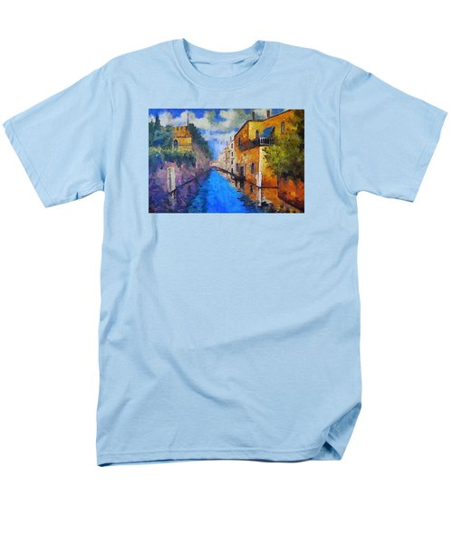 Impressionist D'art At The Canal Men's T-Shirt  (Regular Fit) by Mario Carini