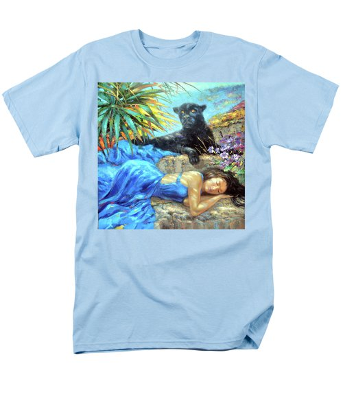 Men's T-Shirt  (Regular Fit) featuring the painting In One's Sleep by Dmitry Spiros