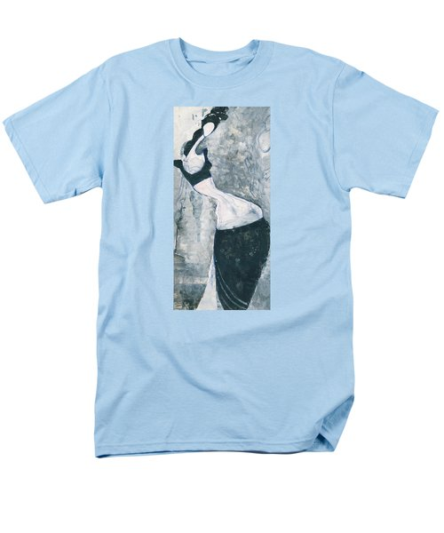 Men's T-Shirt  (Regular Fit) featuring the painting Indian Lady by Maya Manolova