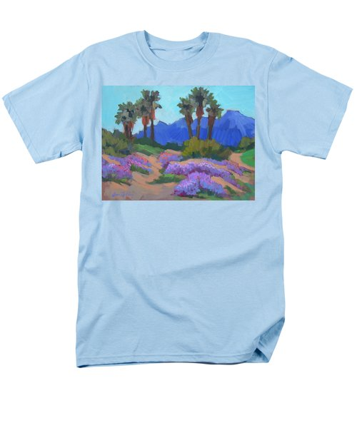 Men's T-Shirt  (Regular Fit) featuring the painting Indian Wells Verbena by Diane McClary