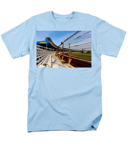 Men's T-Shirt  (Regular Fit) featuring the photograph Indy  Indianapolis Motor Speedway by Iconic Images Art Gallery David Pucciarelli