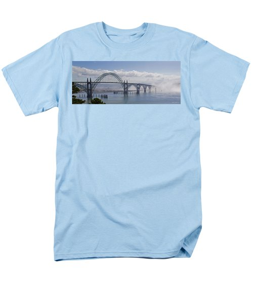 Into The Fog At Newport Men's T-Shirt  (Regular Fit) by Mick Anderson