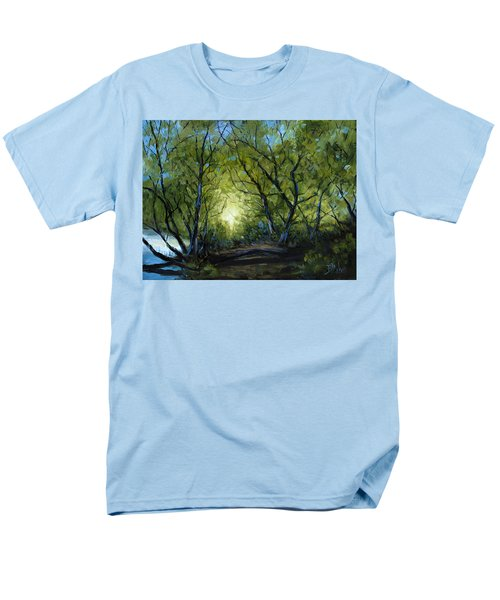 Men's T-Shirt  (Regular Fit) featuring the painting Into The Light by Billie Colson