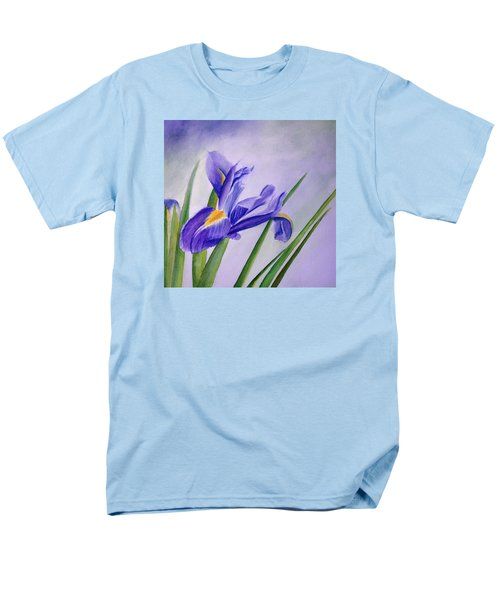 Men's T-Shirt  (Regular Fit) featuring the painting Iris by Allison Ashton