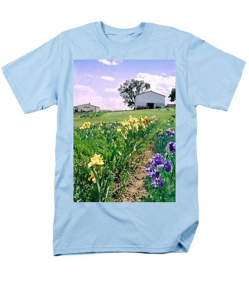 Men's T-Shirt  (Regular Fit) featuring the photograph Iris Farm by Steve Karol
