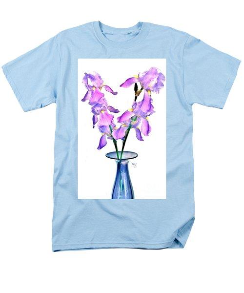 Men's T-Shirt  (Regular Fit) featuring the digital art Iris Still Life In A Vase by Marsha Heiken