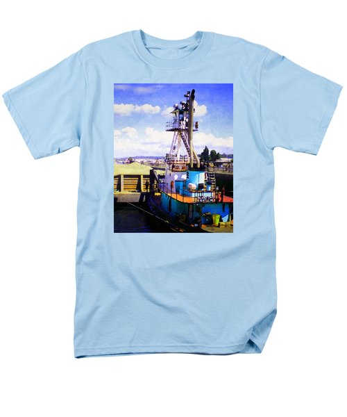 Men's T-Shirt  (Regular Fit) featuring the photograph Island Chief In The Ballard Locks by Timothy Bulone