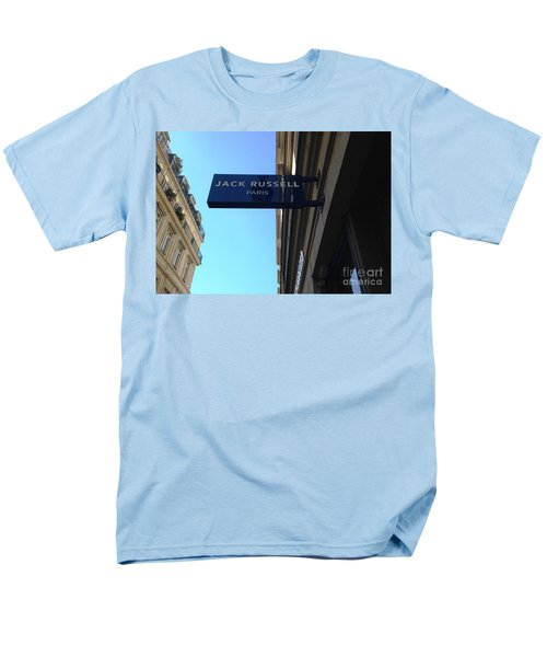 Men's T-Shirt  (Regular Fit) featuring the photograph Jack Russell Paris by Therese Alcorn