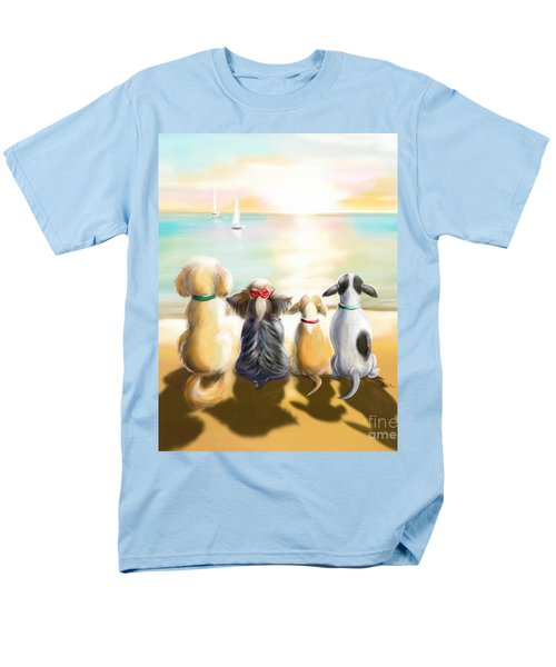 Jersey Shore Sunrise  Men's T-Shirt  (Regular Fit) by Catia Cho
