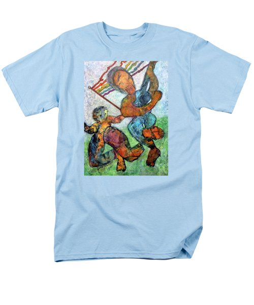 Men's T-Shirt  (Regular Fit) featuring the painting Jump For Joy by Jim Whalen