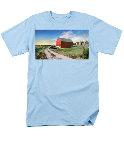 Men's T-Shirt  (Regular Fit) featuring the photograph Kansas Landscape II by Steve Karol