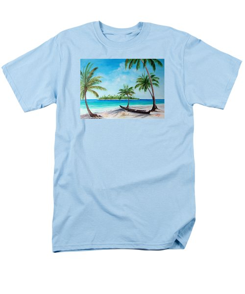 Kayak On The Beach Men's T-Shirt  (Regular Fit) by Lloyd Dobson