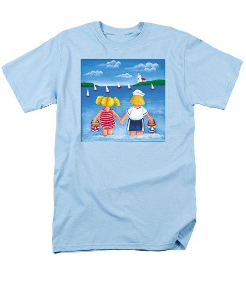 Kids In Door County Men's T-Shirt  (Regular Fit) by Pat Olson