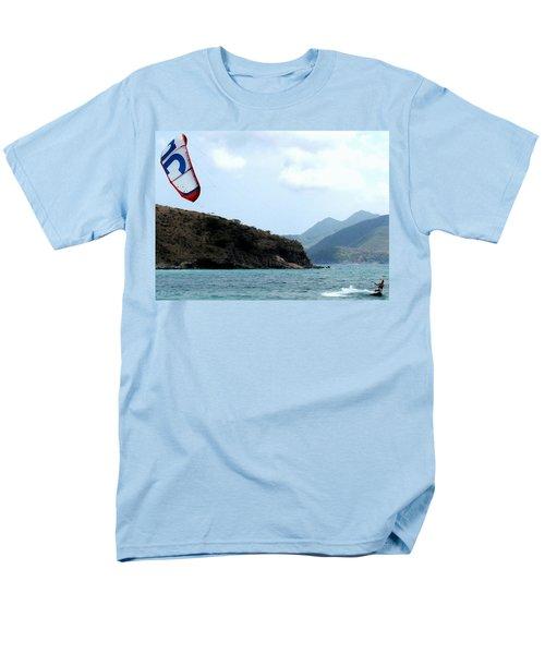 Kite Surfer St Kitts Men's T-Shirt  (Regular Fit) by Ian  MacDonald