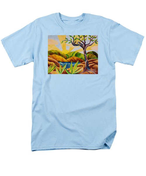 Men's T-Shirt  (Regular Fit) featuring the painting Kookaburra Landscape by Judy Via-Wolff