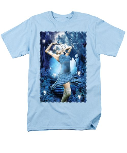 Lady Blue Fantasy Art Men's T-Shirt  (Regular Fit) by Sharon and Renee Lozen