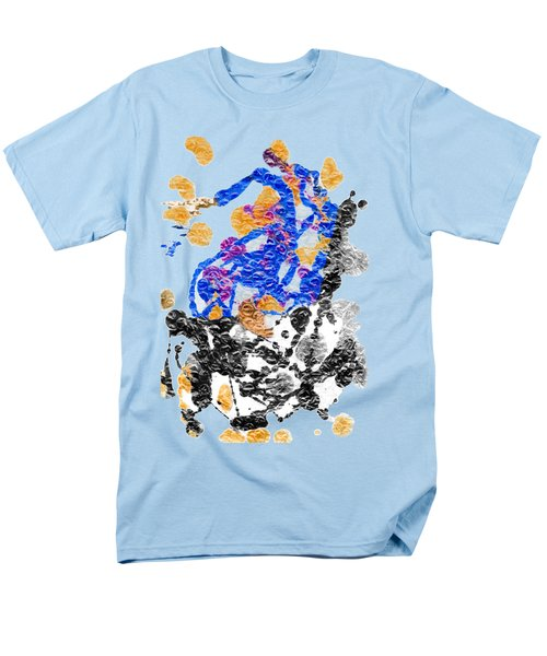 Lady In Blue Men's T-Shirt  (Regular Fit) by Lori Kingston