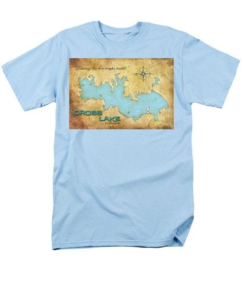 Men's T-Shirt  (Regular Fit) featuring the digital art Laissez Les Bon Temps Roulet - Cross Lake, La by Greg Sharpe