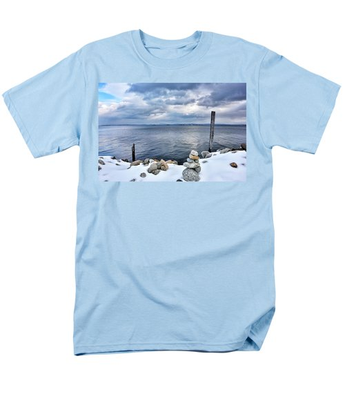 Lake Champlain During Winter Men's T-Shirt  (Regular Fit) by Brendan Reals