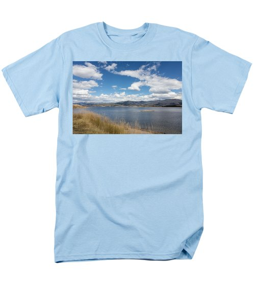 Men's T-Shirt  (Regular Fit) featuring the photograph Lake Granby -- The Third-largest Body Of Water In Colorado by Carol M Highsmith