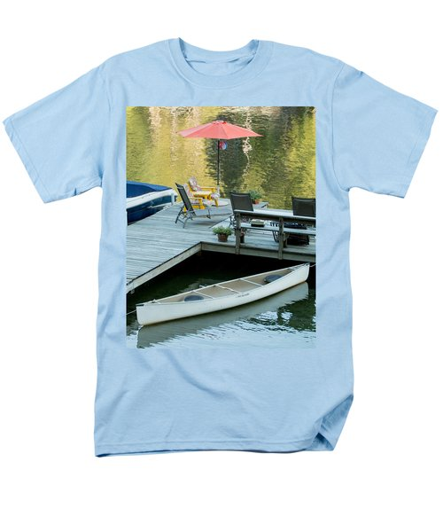 Lake-side Dock Men's T-Shirt  (Regular Fit) by E Faithe Lester
